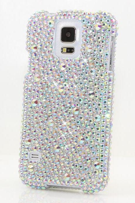 Bling Crystals Phone Case for iPhone 6 / 6s, iPhone 6 / 6s PLUS, iPhone 4, 5, 5S, 5C, Samsung Note 2, Note 3, Note 4, Galaxy S3, S4, S5, S6, S6 Edge, HTC ONE M9 (PLAIN AB MIXED CRYSTALS DESIGN) By LuxAddiction