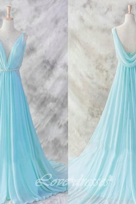 2015 New Prom Evening Party Dress Straps Backless Graduation Gown S184