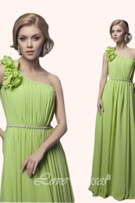 Long Prom Evening Dress Party Dress One Shoulder Graduation Gown S190