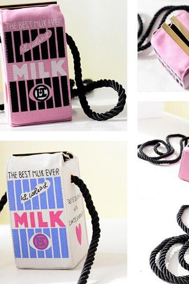 Cute Milk Box Shoulderbag