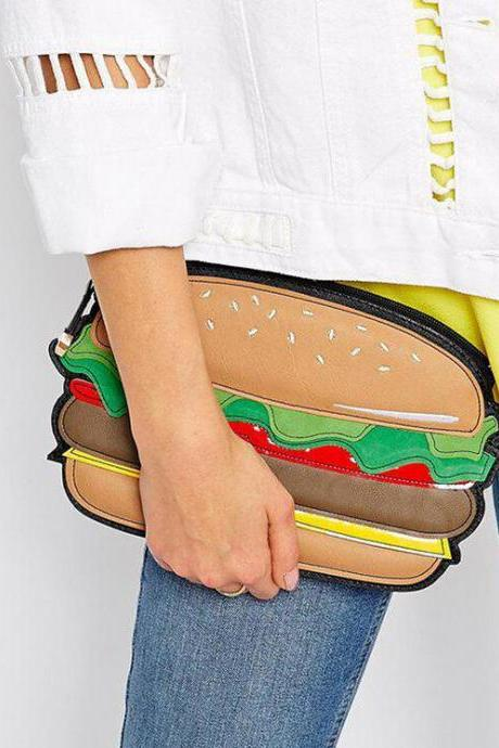 Cute Hamburger Handbag