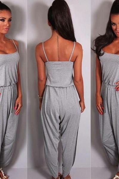 HOT CUTE GREY JUMPSUIT