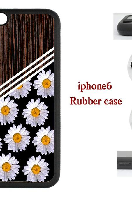 Small chrysanthemum Wood Grain Hard case cover for iPhone 4/4s/5/5s/6/6plus case Samsung Galaxy S3/S4 /S5 Note2/3/4 Case