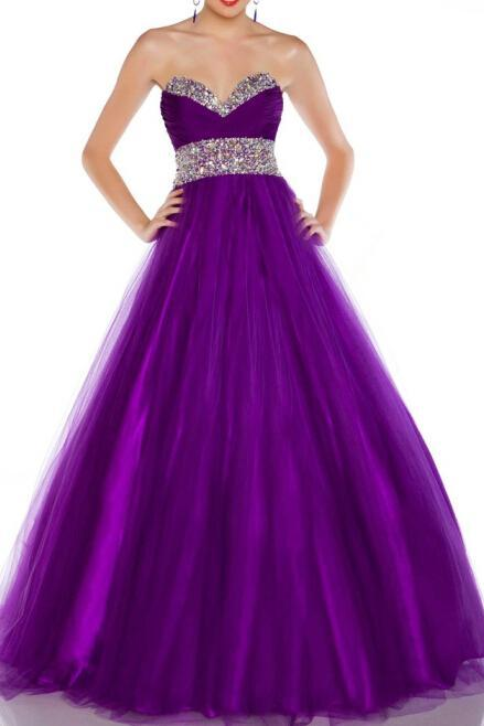 2015 New Hot Formal tulle Prom Gowns inserts purple red and Party Dress Sexy Backless thin strapless Dress with Special Occasions Prom Gowns