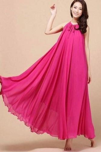 Pink Bridesmaids Dress Pink Maxi Dresses Teens and Adult Women