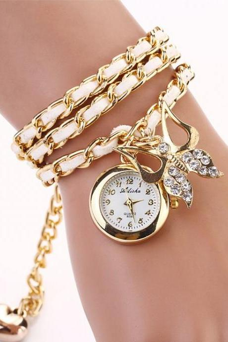 Dress long white bracelet fashion lady watch