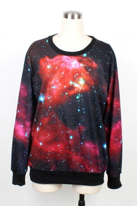 Galaxy Sweater Jumper Cosmic Light Sweatshirt T-Shirt Long Sleeve Black Women Shirt Tshirt Unisex--1003 V8W2L9Z7HGN62GGIS7Z7Z 5KXLBALS089