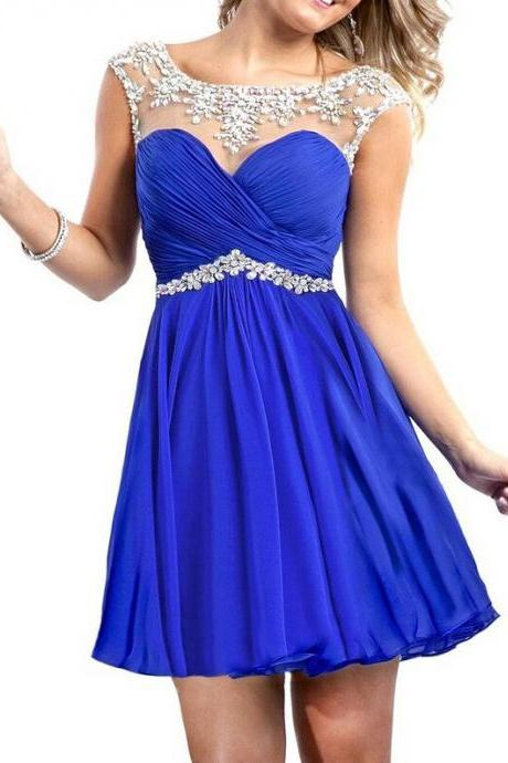 Hd08192 Charming Homecoming Dress,Chiffon Homecoming Dress,Beading Homecoming Dress, Short Noble Homecoming Dress