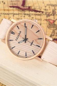Wood pattern leather watch, Style wood pattern watch, leather watch, bracelet watch, vintage watch, retro watch, woman watch, lady watch, girl watch, unisex watch, AP00436