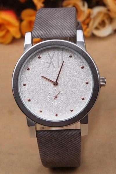 Sand pattern watch face leather watch, grey leather watch, leather watch, bracelet watch, vintage watch, retro watch, woman watch, lady watch, girl watch, unisex watch, AP00447