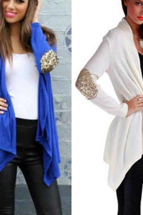 New Fashion Women Loose Chiffon Tops Long Sleeve Shirt Casual Blouse cardigan