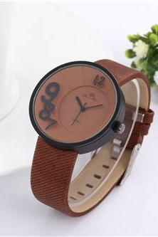 New leather watch, brown leather watch, bracelet watch, vintage watch, retro watch, woman watch, lady watch, girl watch, unisex watch, AP00494