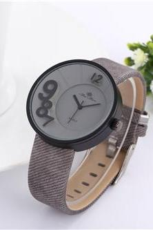New leather watch, grey leather watch, bracelet watch, vintage watch, retro watch, woman watch, lady watch, girl watch, unisex watch, AP00495