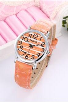 Jeans band pattern casual fashion leather watch, bracelet watch, vintage watch, retro watch, woman watch, lady watch, girl watch, unisex watch, AP00524
