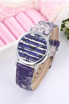 Jeans band pattern casual fashion leather watch, bracelet watch, vintage watch, retro watch, woman watch, lady watch, girl watch, unisex watch, AP00527