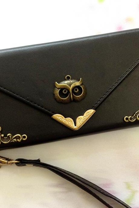 Owl iphone 6 6s 4.7 leather wallet case, Vintage iphone 6 6s plus leather wallet case, item no.280