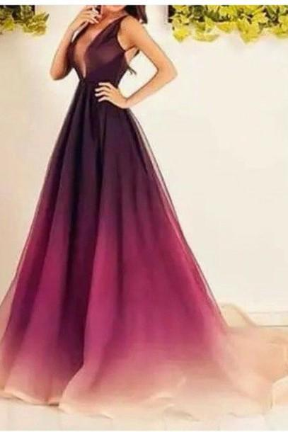 Homecoming Dress, Prom Dresses, Long Bridesmaid Dresses, Long Evening Dresses, Sexy Evening Gowns, Formal Dress, Party Dresses, Gradient Prom dress,Backless dress