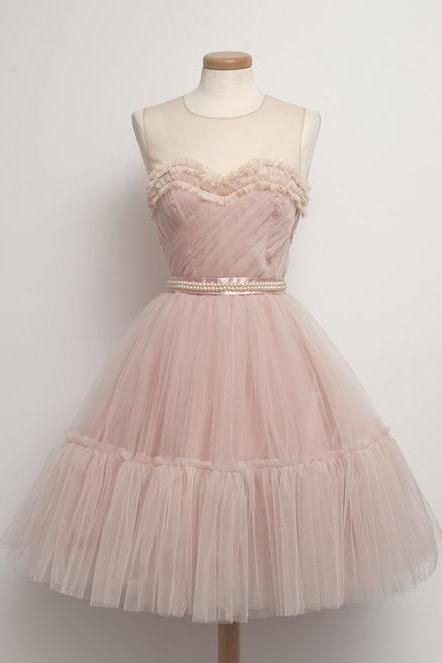 Hd08218 Charming Homecoming Dress,Tulle Homecoming Dress,O-Neck Homecoming Dress,Noble Homecoming Dress