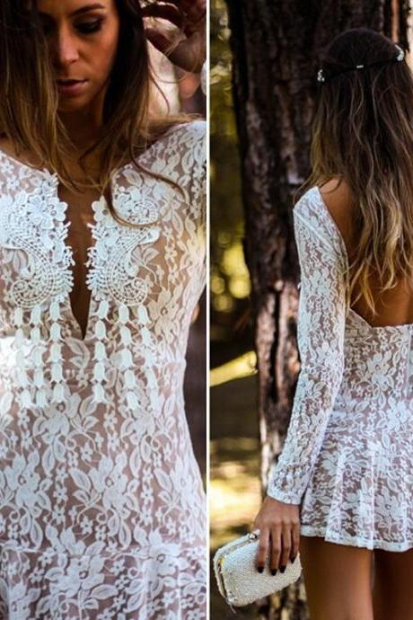 Sexy Women's Summer Casual Lace Evening Party Beach Dress Short Mini Dress