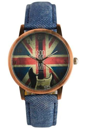 UK Flag Denim Vintage Watch