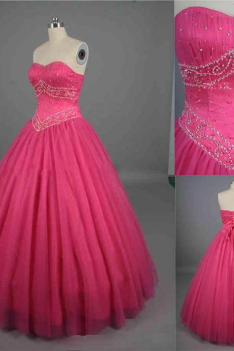 2019 Prom Dresses, Ball Gown ,Quinceanera Dresses, Beaded Evening Dresses Long Prom Dresses,Custom Made Party Dresses