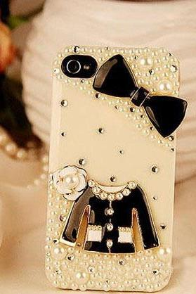 6c 6s plus water proof cases iPhone5s 5 7plus Pearl case bow Phone case for iPhone 6 and Samsung bling case diamond frost case