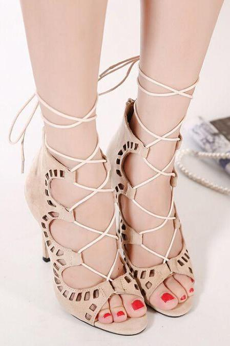 Sexy Strappy High Heels Fashion Shoes