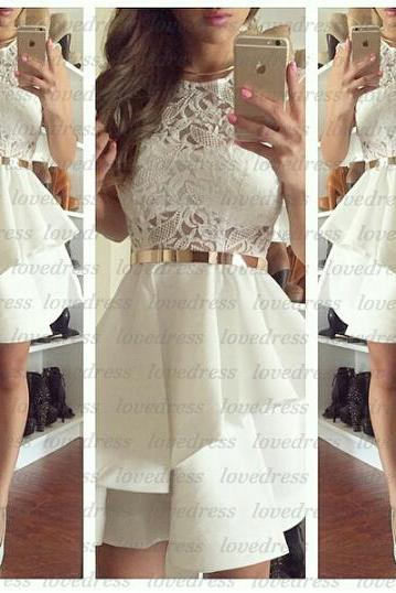 White homecoming dress, modest homecoming dresses, junior homecoming dress, cheap prom dress, prom dress online, 2015 prom dress, CM584