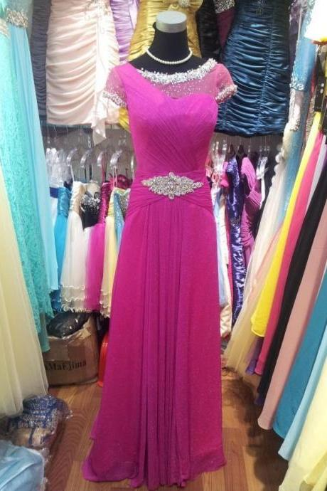prom dresses 2019,long crystal beading dresses, fuschia evening dresses, formal dresses evening, plus size dresses, sexy evening gowns
