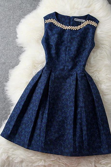 New Style Short Blue Prom Dresses