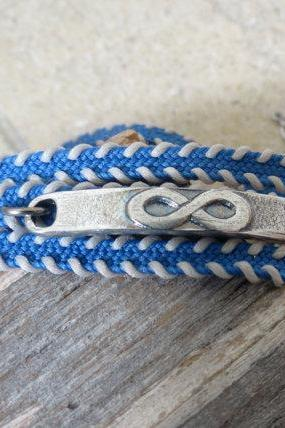 Men's Bracelet - Men's Infinity Bracelet - Men's Blue Bracelet - Men's Jewelry - Men's Love Bracelet - Bracelets For Men - Gift for Him
