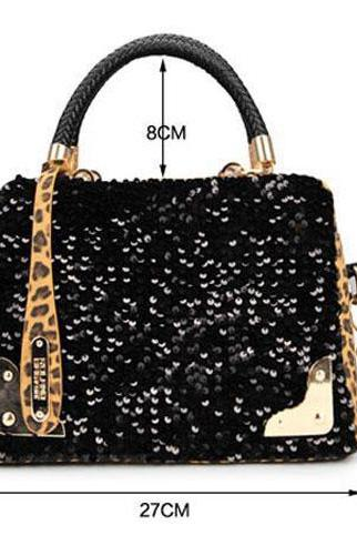 Leopard Hobo Women Shoulder Bag PU Leather Tote Handbag Purse Satchel Cross Body
