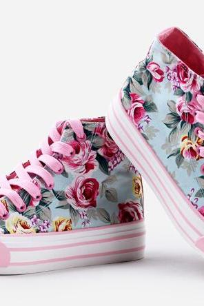 Pink Printing For Canvas Shoes