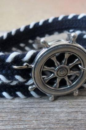 Men's Bracelet - Men's Nautical Bracelet - Men's Blue And White Bracelet - Mens Jewelry - Bracelets For Men - Jewelry For Men - Gift for Him