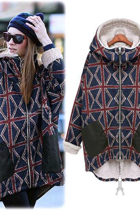 New Lady Women Thicken Warm Winter Coat Hood Parka Overcoat Long Jacket Outwear