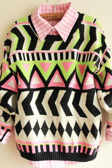 Fashion Sweaters & Cardigans With Totem Geometry 1V5299I5DAAZ2ZF8PNNM2 Z2AGNZUPSPM
