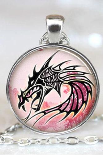 Dragon charm Pendant, Dragon necklace pendant, Dragon Photo necklace charm