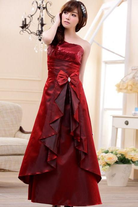 Fashion One Shoulder Women's Long Evening Formal Party Dress