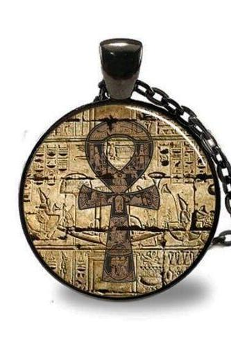 Egyptian Necklace, Egyptian Ankh Pendant, Eternal Life pendant