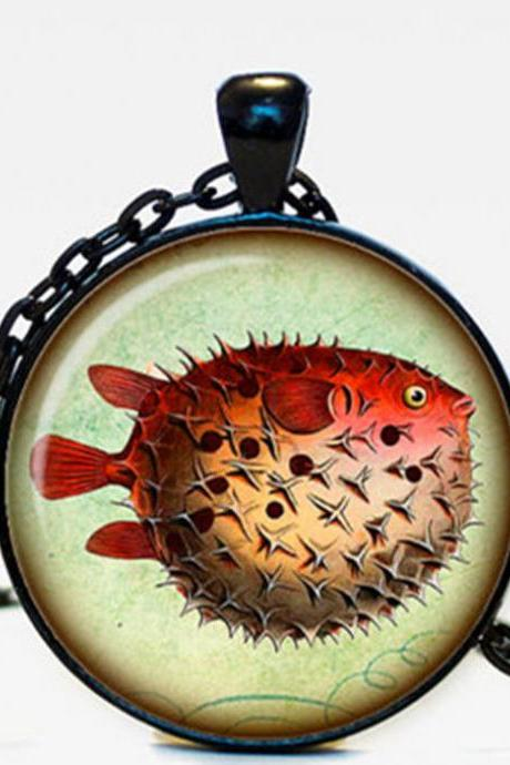 Fish pendant Fish jewelry Fish necklace vintage style Sea life jewelry