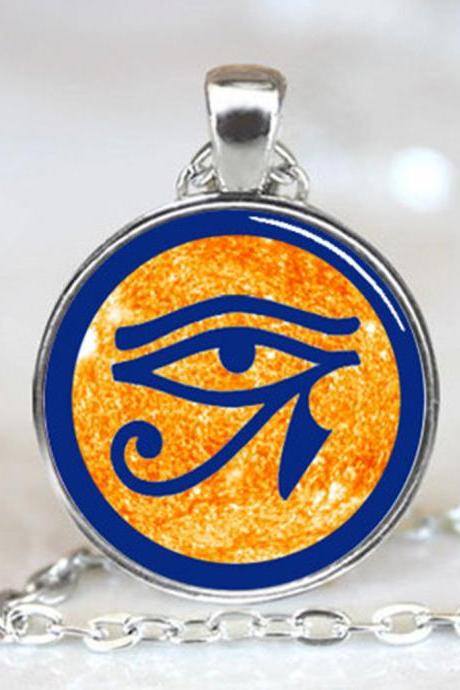 Eye of Ra - Egyptian Sun God Symbol Jewelry Necklace Pendant