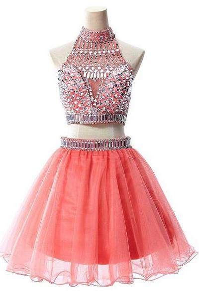 short Homecoming Dresses, Graduation Dresses, pink Homecoming Dress, cheap homecoming dress, party prom dress, charming prom dress, 14263