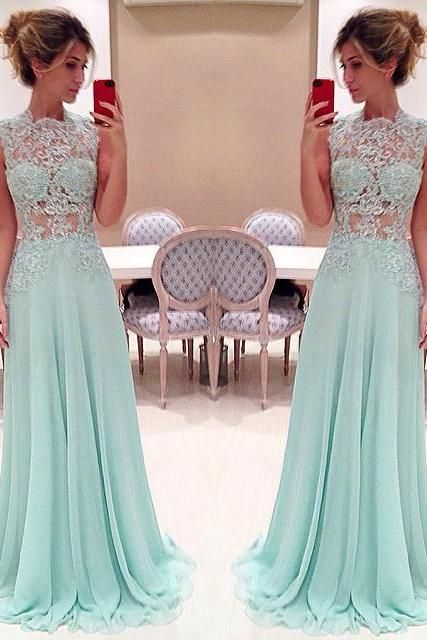 Pretty Light Blue Long Prom Dress With Applique Sexy Prom Dresses Prom Dresses Formal Gown