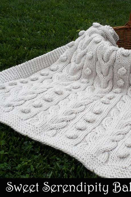 Sweet Serendipity Baby Blanket Knitting Pattern