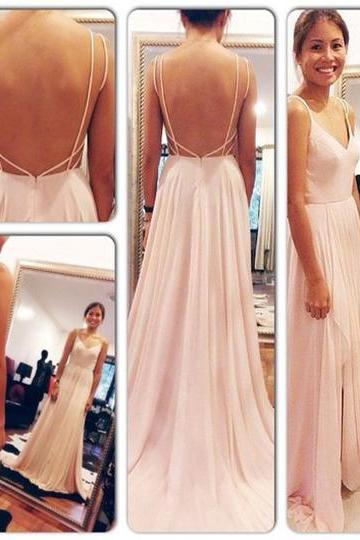 V-neck Prom Dress Backless Prom Dress Sexy Long prom dress Evening Dress Elegant Women dress,Party dress L066