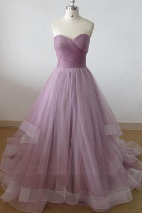 sweetheart tulle prom dress, long prom dress, cheap prom dresses, prom dresses 2016, elegant prom dresses, CM634