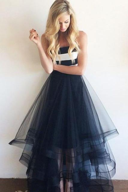 Pd06239 Charming Prom Dress,Tulle Prom Dress,A-Line Prom Dress,Strapless Prom Dress,Floor-Length Prom Dress, PM632