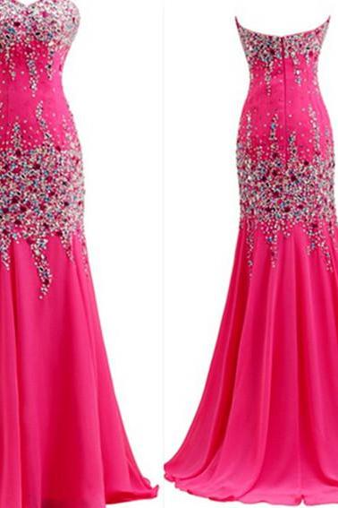 Beading Floor-Length Charming Prom Dresses ,The Sweetheart Floor-Length Evening Dresses ,Prom Dresses, Real Made Prom Dresses On Sale