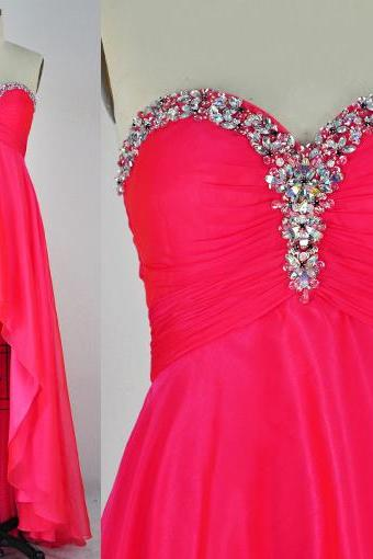 New Design Floor-Length Prom Dresses, The Charming Evening Dresses ,Sweetheart Prom Dresses, Prom Dresses On Sale