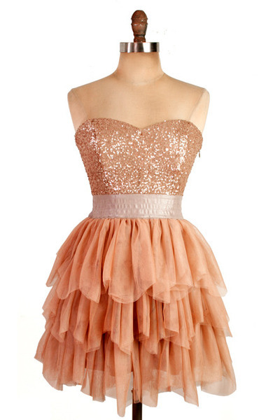 Custom Made Strapless Sweetheart Neckline Tiered Tulle Evening Cocktail Dress, Wedding and Homecoming Dresses with Shimmery Details